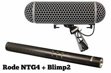 Rode NTG4 Shotgun Microphone w/Digital Switches + BLIMP BLIMP2 NTG-4 IN ORIG BOX