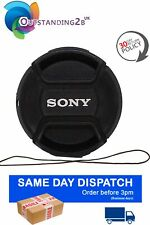 Sony LC-49 Front Pinch Lens Cap for Alpha 49mm filter thread snap-clips