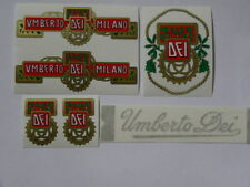 kit stickers adesivi per bici vintage UMBERTO DEI 6 pezzi
