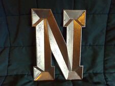 """METAL MONOGRAM INITIAL 'N' INDUSTRIAL STYLE WALL HANGING LETTER ART DECOR 11"""""""