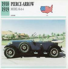 1910-1919 PIERCE ARROW Model 66-A-4 Classic Car Photograph/Information Maxi Card
