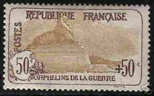 """FRANCE STAMP TIMBRE 1917-18 Y&T 153 """" ORPHELINS 50c+50 """" NEUF xx LUXE H811"""