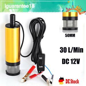 Tauchpumpe 12V 51mm Diesel Öl Wasserpumpe Bootpumpe Transfer Auto 30L/Min