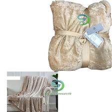 Crushed Velvet Sherpa Sofa Bed Floor Home Hotel Camping Blanket 150 x 200cm