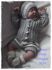 Honeydropdesigns * Allsorts * PAPER KNITTING PATTERN * Reborn/Baby (4 Sizes)