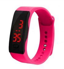 Reloj pulsera deportivo con LED Digital Rosa Niños Niñas Hombres Mujeres Niños Regalo Impermeable