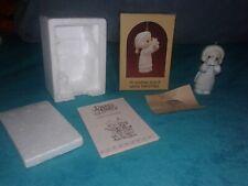 """Precious Moments 1987 """"I'm Sending You A White Christmas"""" Ornament #112372"""