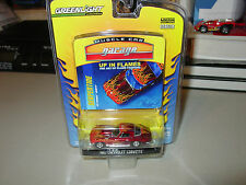 2009 GREENLIGHT UP IN FLAMES 1967 CHEVROLET CORVETTE MUSCLE CAR GARAGE SERIES 2