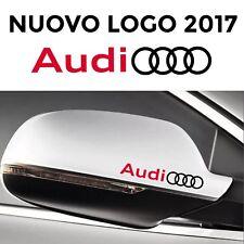 ADESIVI AUDI SPECCHIETTI auto 2 stickers S4 A3 A4 A5 A6 Q3 Q5 Q7 S3 Sline nero