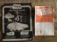 1977-79 VINTAGE STAR WARS MILLENNIUM FALCON INSTRUCTIONS AND MISSING PARTS SHEET