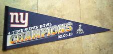 New York GIANTS Super Bowl XLVI Champs 02-05-12 NFL Football PENNANT