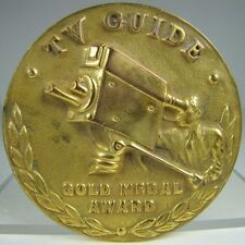 Orig Old TV GUIDE GOLD MEDAL AWARD Medallion High Relief Ornate Rare HtF 1950s