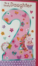 TO A LOVELY DAUGHTER 2 - DAUGHTERS 2ND BIRTHDAY CARD