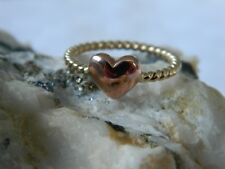 Clogau 9ct Yellow & Rose Welsh Gold Heart Twist Ring RRP £350.00 size N