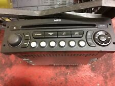 CITROEN C4 PICASSO (& GRAND) 2007-2012 RD4 CD PLAYER with CODE. AUX INPUT IS ON.
