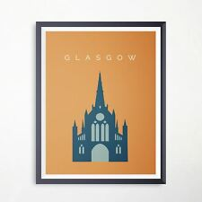 Glasgow St Mungo Cathedral Travel Poster Landmark Print Minimalist Art