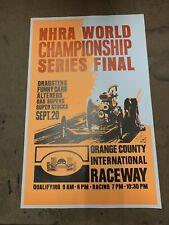 NHRA OCIR Vintage Poster Drag Racing 22x14 Top Fuel Funnycar