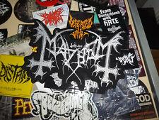 The True Mayhem Patch Backpatch Shape True Norwegian Black Metal Dead Morbid