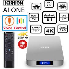 SCISHION AI ONE Android 8.1 Smart TV Box Voice Control 4GB+32GB 4K Media Player