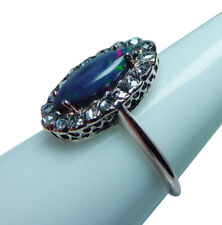 Antique Opal Rose cut Diamond Ring 14K Estate Jewelry Lovely Mounting