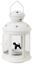 More details for giant schnauzer lantern gift dog indoor/outdoor personalised white christmas