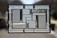 """• Study in Clear • 21 1/2"""" x 14 1/2""""  Beveled Stained Glass Windows"""