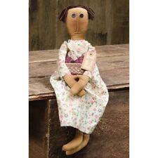 Primitive April Doll Country Fabric Cloth Rag Americana Folk Art Farmhouse