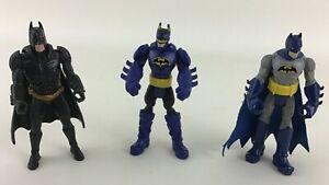 Mattel DC Comics Battle Grip Batman Action Figure Posable Caped Crusader 3pc A10