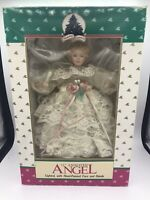 "HOLIDAY CLASSICS 11"" ANIMATED ANGEL LIGHTED CHRISTMAS TREE TOPPER HAND PAINTED"