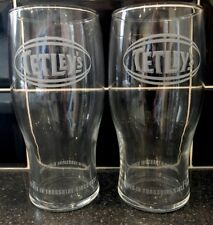 TETLEY'S BITTER PINT GLASSES (X2) - NEW / CE STAMPED
