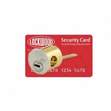 Lockwood Rim Cylinder 201PI2MT5SC Keyed to VPIL-Power Industry (VIC) Master Key-