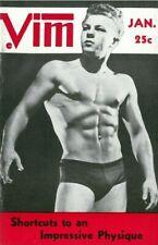 Vim Vol.3 No.1 January 1956, w/envelope Vintage Male Beefcake Magazine