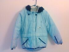 Limited Too Coat Girl's Light Blue Size M Youth Hood Polyester Winter Cozy