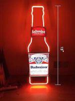 """NEON LIGHT BUDWEISER BOTTLE BUD LIGHT BUSCH BEER BAR MILLER VINTAGE SIGN 13""""X5""""Z"""