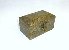Unusual Fine Decorative Casket Can Damascus 19 Jh Bronze