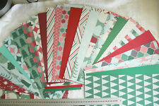 LET IT SNOW 12x6Pk 20 Sngl Sided Dsgns with Strips + 6 Plain Cardstock Heavy AC