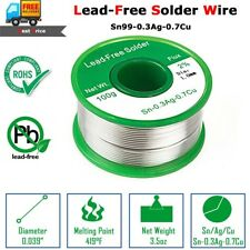 100g Lead Free Soldering Wire 1mm Welding Solder Iron Cord Tin Flux Rosin Core