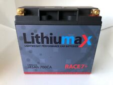 Lithiumax 700CCA RACE7+ Lithium Race & Road Car 4WD Boat Battery inc Volt LCD