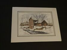 Fred Haas Art Print Historic Cliffon Mill Artist Troy Ohio Cliffton Ohio Drawing