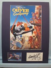 """Walt Disney - """"Oliver & Company and Dom DeLuise as Fagin & his autograph"""