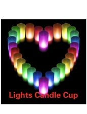 SET OF 3 LED COLOUR CHANGING FLAMELESS MOOD CANDLE Novelty Halloween