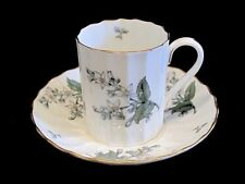 Royal Worcester Bone China VALENCIA Demitasse Cup and Saucer ~ c. 1953-1965