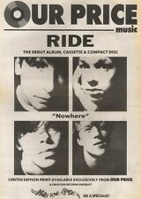 20/10/90 Pgn02 Advert: Ride The Debut Album ride Out In Our Price Now 15x11