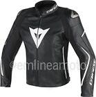 Leather Jacket Dainese Assen Black/Black/White