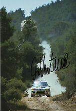 Ari Vatanen mano firmado 12x8 Foto Peugeot 205 1984 2.
