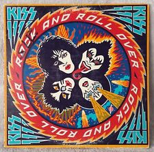 """KISS 1976 ROCK AND ROLL OVER 12"""" Vinyl 33 LP I Want You HARD LUCK WOMAN ROCK VG"""