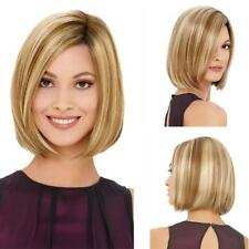 Women Bob Hair Wig Short Straight Blonde Daily Cosplay Natural Bobo Wigs, Gift