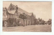 St Martin's Church And Parsons Motors Albany Road Cardiff Early 1900's MJR B8584