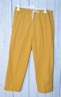 S.C.R.U.B.S. Women's Yellow Scrub Pants XL Short
