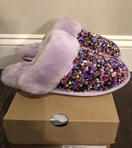 NWT UGG Size 6 Scuffette II Stellar Sequin Slipper LFST Purple Lavender Lilac